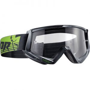 THOR CONQUER OFFROAD GOGGLES GUNMETAL/GREEN ONE SIZE
