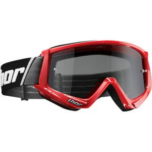 THOR COMBAT SAND OFFROAD GOGGLES RED/BLACK ONE SIZE